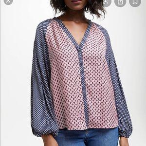 Boden Pink/Blue Blouse Size 6